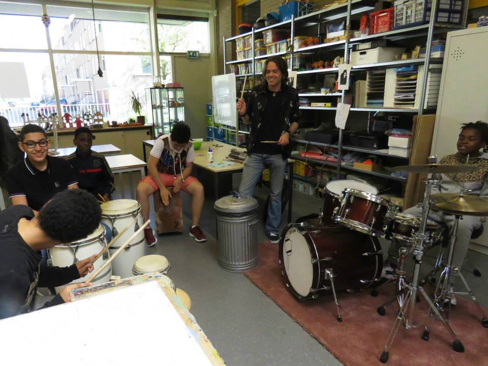 Slagwerk workshop door Drumschool Sven Bakker