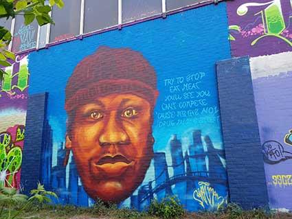 KRS1 graffiti hiphop portrait @ Hof 310 Alkmaar (Sven Bakker)