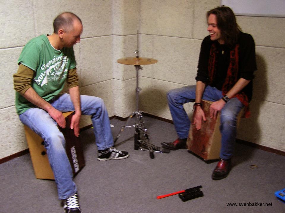Cajonles op Drumschool Sven Bakker