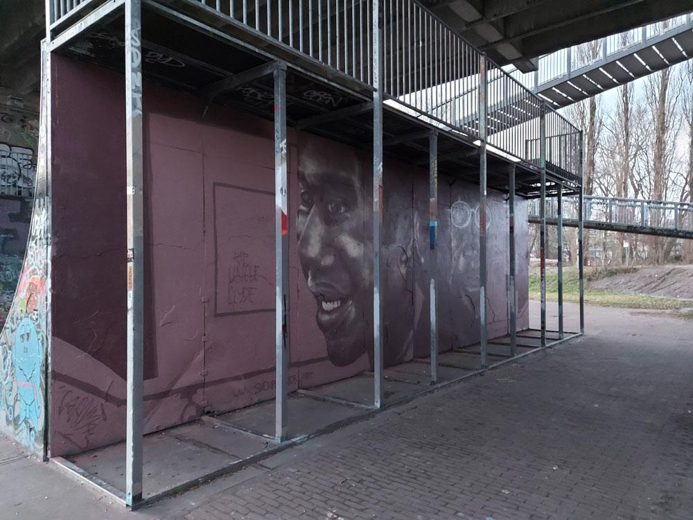 Clyde Semmoh graffitiportrait @ Half-Pipe, Amsterdam (Sven Bakker)