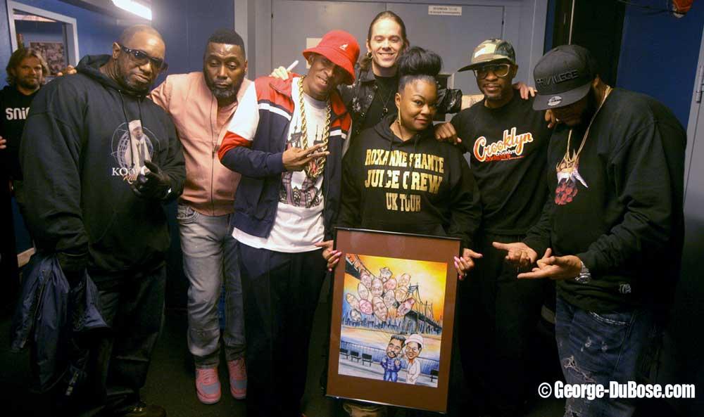 Juice Crew met Roxanne Shante met tekening (Sven Bakker)