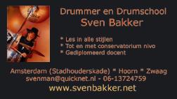 Oud ontwerp voor business card Sven Bakker (2012)