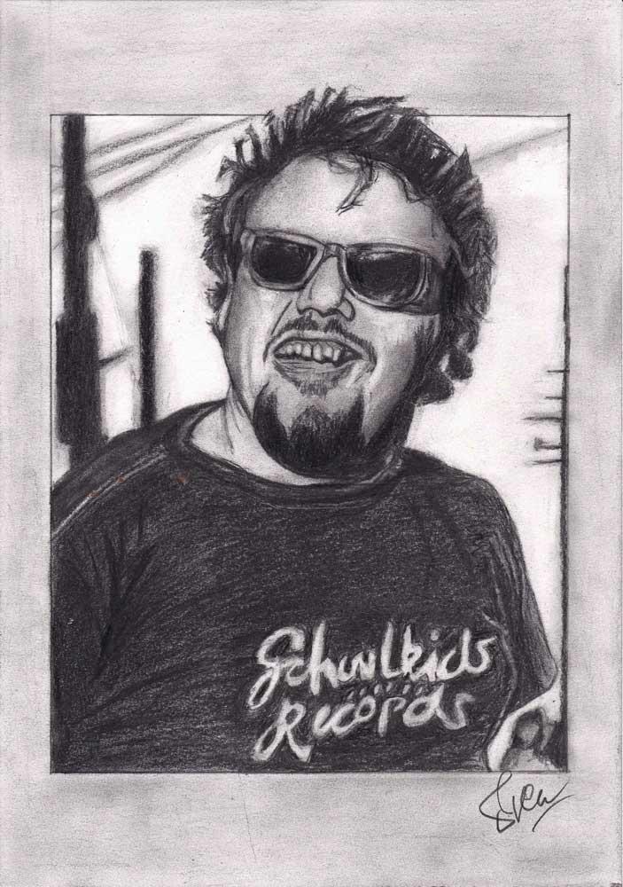 Dennes D Boon (The Minutemen) tekening (Sven Bakker)