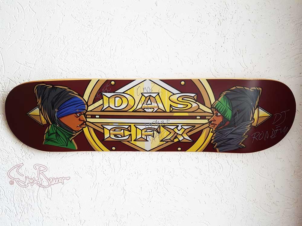 Das Efx skateboard hiphop drawing/art gesigneerd door  Skoob, Crazy Drayz, DJ Rondevu Sven Bakker