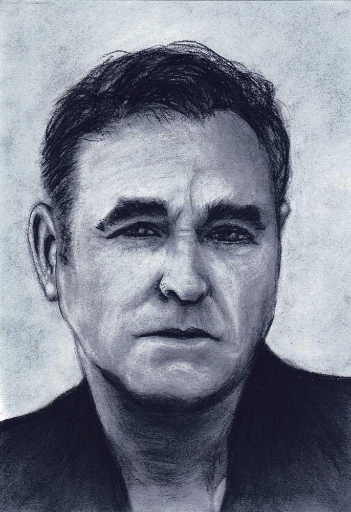 Morrissey houtskool tekening houtskool