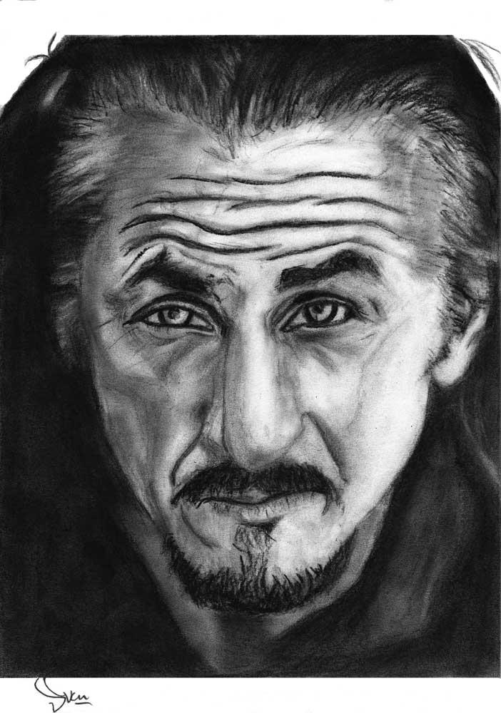 Seann Penn tekening (Sven Bakker)