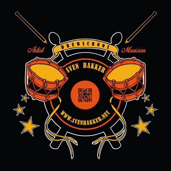 Logo drumschool Sven Bakker