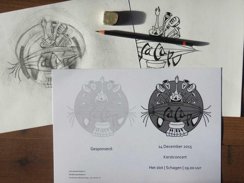 Officiëel logo voor muziekschool Da Capo Schagen (Sven Bakker)