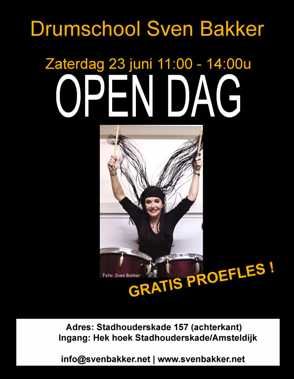 Poster drumles Amsterdam (Sven Bakker)