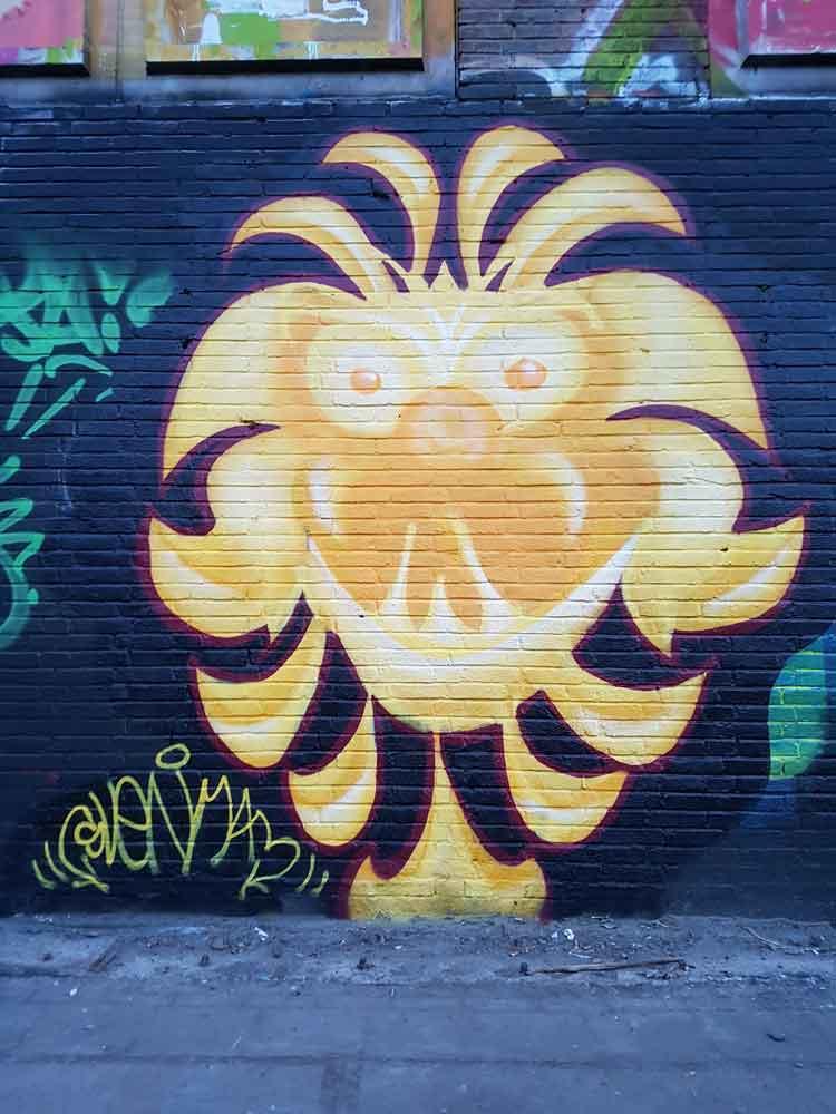 Svenimal graffiti Sven Bakker Amsterdam