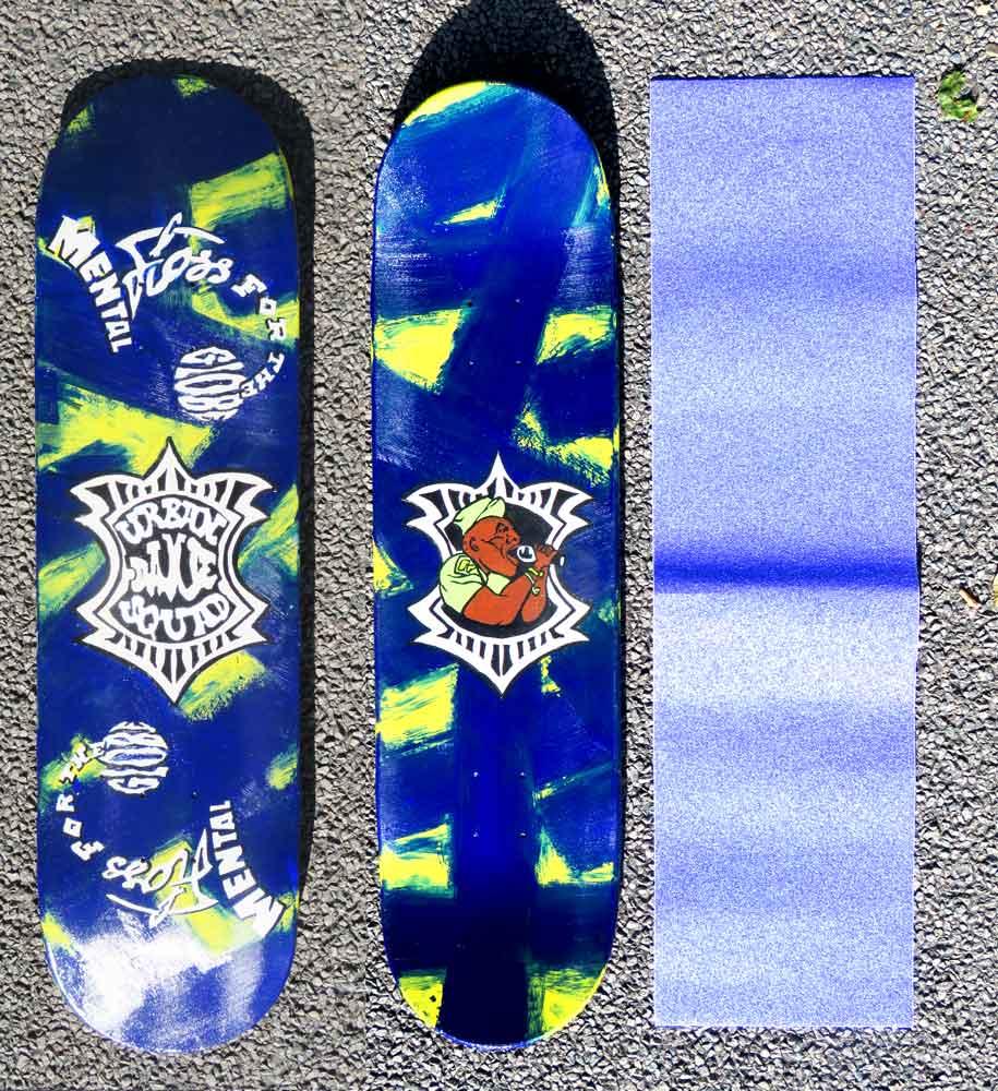 Enige echte Urban Dance Squad - skateboard (acryl) (Sven Bakker)