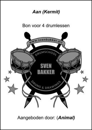 kadobon drumles Sven Bakker