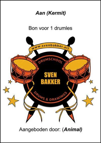 Kadobon Drumschool Sven Bakker