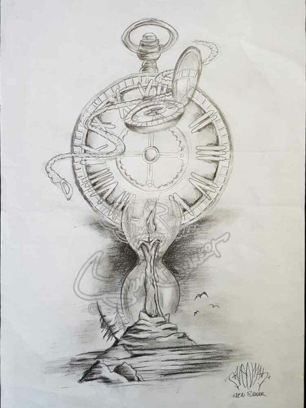 Tattoo Clock-design by Sven Bakker
