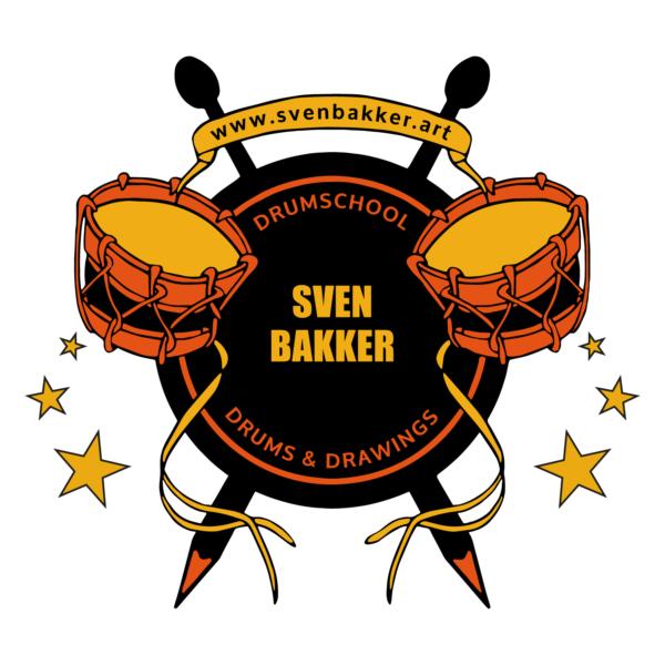 Logo drumschool art studio Sven Bakker